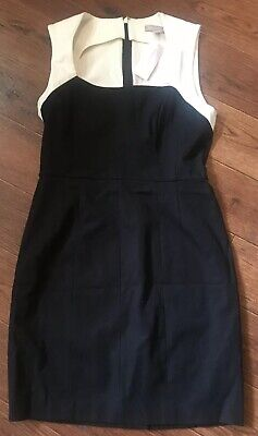 NWT New Banana Republic Dress Black Ivory Sheath Career Cocktail 8P 8 Petite