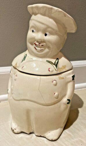 Antique Vintage Black Chef Cookie Jar, National Silver Co.
