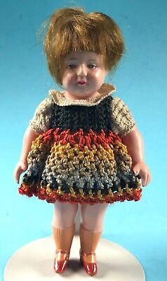 Celluloid Zelluloid Puppenstuben Puppe Haare bekleidet Minerva Buschow & Beck~20