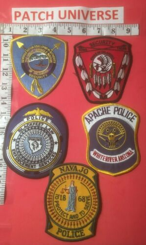 LOT OF 5  DIFFERENT TRIBAL  SHOULDER PATCHES  N026