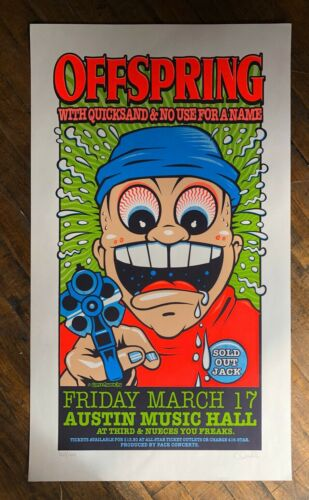 Uncle Charlie - 1996 - Offspring Concert Poster No Use For a Name, Quicksand TX