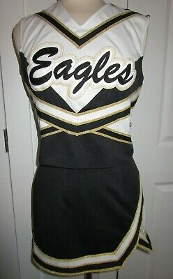 EAGLES Cheerleader Uniform Outfit Costumes Sizes 32-44