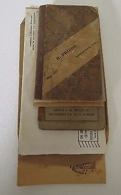 vtg~6 paper items~adv KEWAUNEE WI ~Shell oil~feed~priebe notebook~1925-1944