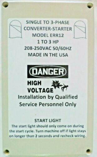1-3 HP Static Phase Converter 208-250VAC Mill Drill Saw USA 50/60Hz