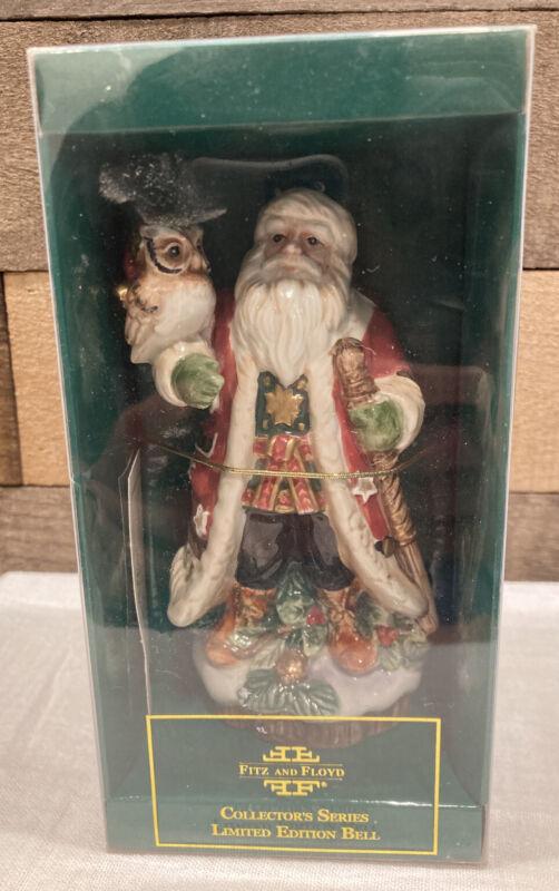 Fitz And Floyd - Christmas Lodge Bell - 🎄 🔔   2001 - Nice!