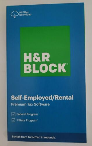 H&R BLOCK 2020 PREMIUM TAX SOFTWARE SELF-EMPLOYED RENTAL New Box Ship Fast 3 Day