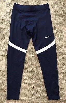 9ac8ed286cb31 Mens Size Large Nike Power Running Tights Navy Blue/White Size Large  835955-420