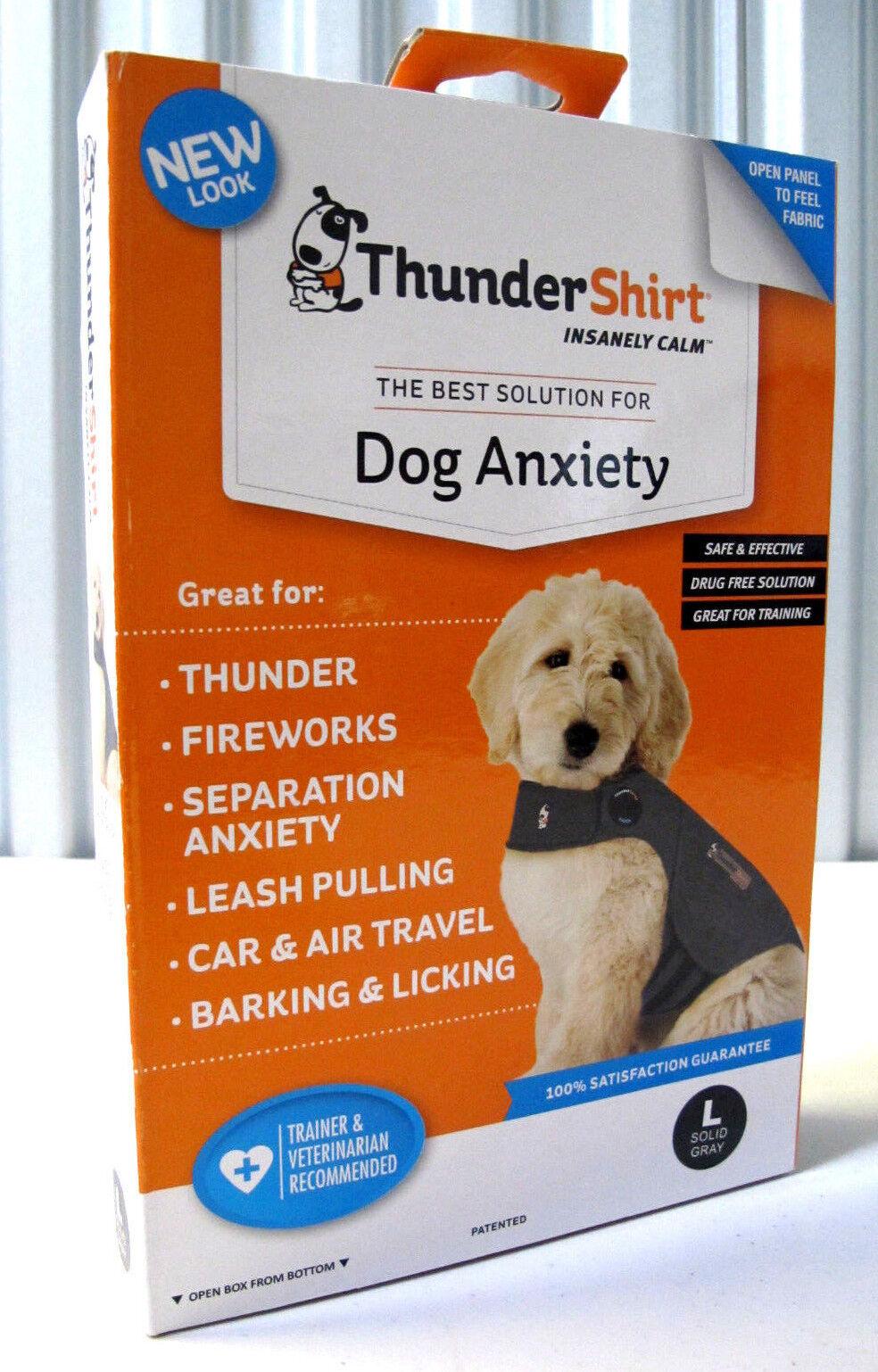ThunderShirt HGL-T01 Classic Dog Anxiety Jacket Large - Solid Grey