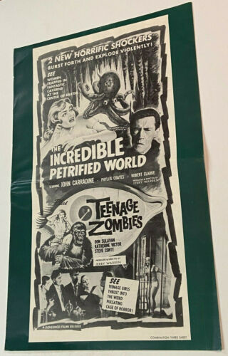 TEENAGE ZOMBIES Rare 1959 HORROR FILM PRESSBOOK The Incredible Petrified World