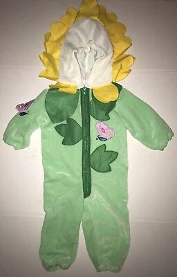 Miniwear 1-Piece Child's Flower Costume Zip-Up With Hood  Size 18 Months