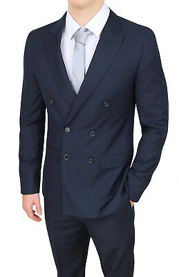 Abito uomo sartoriale doppiopetto blu scuro elegante formale smoking cerimonia
