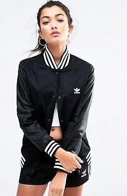 RARE adidas Women's  FASHION  LETTERMAN TRACK TOP JACKET  UK14-US10  MED LAST 1