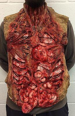 Blutig Blutig Torso Brust Stück Halloween Kostüm Zombie Guts Herz Weste Schürze