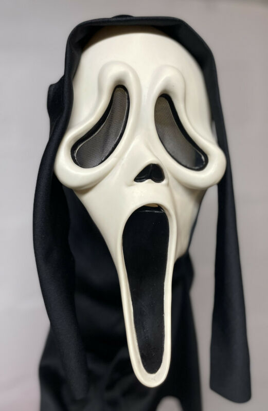 RARE Vintage Easter Unlimited SCREAM Ghostface Mask MK Stamp GLOWS Ghost Face