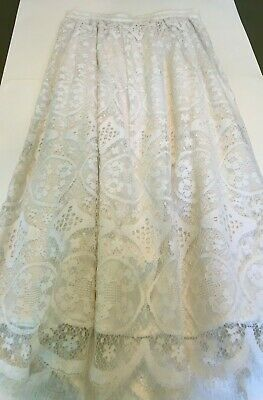 Rare Vtg Jessica McClintock Cotton Lace Skirt, Cocktail or Casual, White, Sz. - Jessica Tweed Skirt