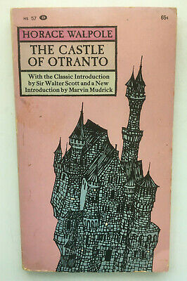 The Castle of Otranto. Horace Walpole & Sir Walter Scott. Vtg Pb Collier 1963