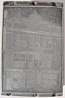 Vintage Letterpress Lead Printers Block Hale Hoff Building