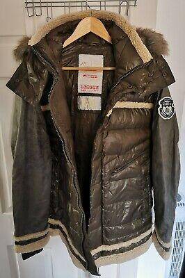 Mens Jet Lag Parka Hooded Winter Down Jacket Size 3XL. RRP £100