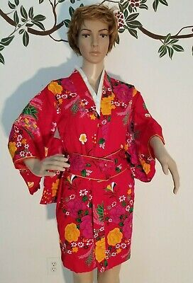 GEISHA JAPANESE ADULT WOMENS SMALL KIMONO HALLOWEEN COSTUME HAND MADE (Handmade Adult Halloween Costumes)