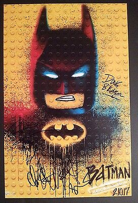 Lego Batman Movie Cast X6  Authentic Hand Signed  Will Arnett  11X17 Photo