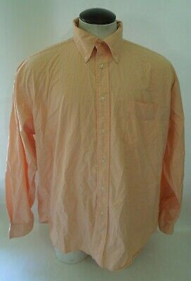 80s Golf Attire (TOMMY HILFIGER GOLF Mens 80s 2 Ply Cotton Orange Plaid Dress Shirt Size)