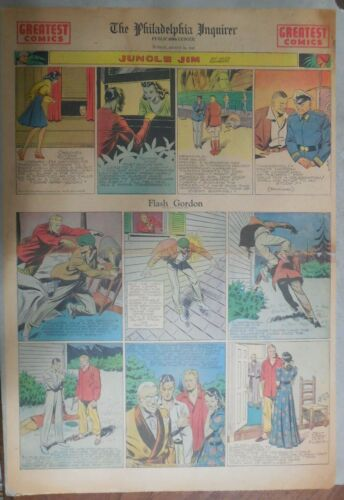 Flash Gordon Sunday by Alex Raymond from 8/10/1941 Large Full Page Size !