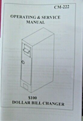 Antares Dollar Bill Changer Cm 222 Operation Manual