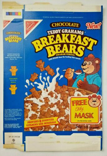 Nabisco Teddy Grahams Vtg 1989 Rare Breakfast Bears Cereal Empty Flattened
