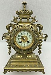 Stunning Antique French Samuel Marti Bronze Mantel Clock