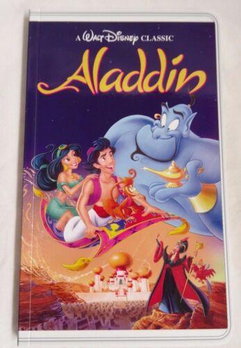 New Disney Aladdin VHS Movie Tape Illusion Notebook Disney Parks Journal Diary