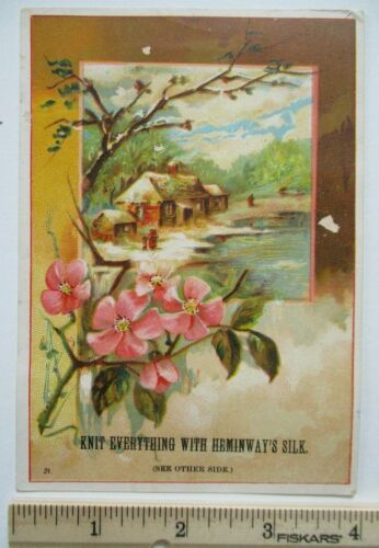Antique Hemingway & Sons Silk Grand St Brooklyn E.D. New York City NY Trade Card