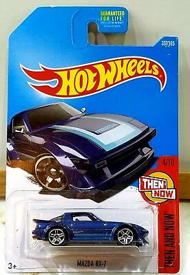2017 HOT WHEELS THEN AND NOW #3 OF 10 BLUE '95 MAZDA RX-7 1/64 Scale