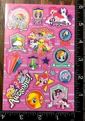 My Little Pony Party Bag Fillers (MY LITTLE PONY TWO SHEETS STICKERS FOR SCRAPBOOK FAVORS PARTY BAG FILLERS)