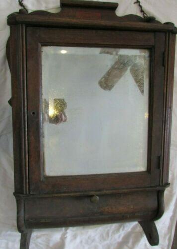 LACKAWANNA  LAUNDRY ANTIQUE Wood Bathroom Medicine Vanity Cabinet Mirrored Door