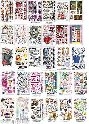 30 sheets RUB ON TRANSFERS MEGA SELECTION CARDMAKING SCRAPBOOKING GLASS ART