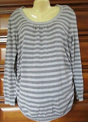 MOTHERHOOD MATERNITY STRIPED SWEATER LONG SLEEVE SIZE L NEW WITH TAGS