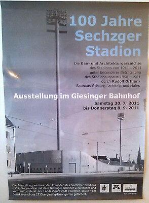 POSTER Grünwalder Stadion München TSV 1860 Löwen Sechzger Fussball Architektur