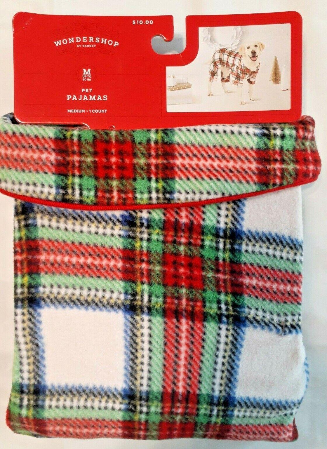 Christmas Holiday Festive Flannel Plaid Pet Dog Pajamas PJ's