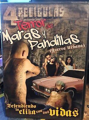 Terror de Maras y Pandillas - 4 Peliculas (Spanish DVD) ~  DVD new, usado segunda mano  Embacar hacia Mexico
