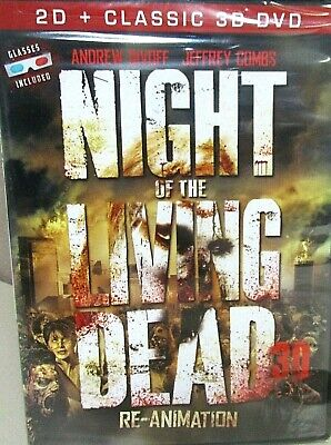 Night of the Living Dead:Re-Animation NEW DVD 3D & 2D w/glasses Zombies (Zombie Animation)