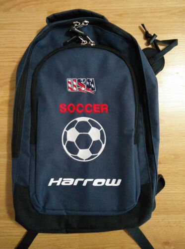 Harrow Backpack Embroidered USA Soccer Logo Day Pack Sports Bag School Football