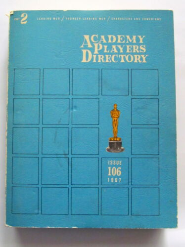 RARE 1967 Academy Players Directory - Part Two - Leading Men - Casting Book 106