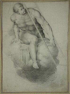 JÜNGSTES GERICHT; LAST JUDGMENT; SIXTINA; LAURENTIUS; BLEISTIFTZEICHNUG, ~1700