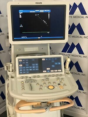 Philips Ie33 Ultrasound System With S5-1cardiac L12-3linear Probes Patient Ready