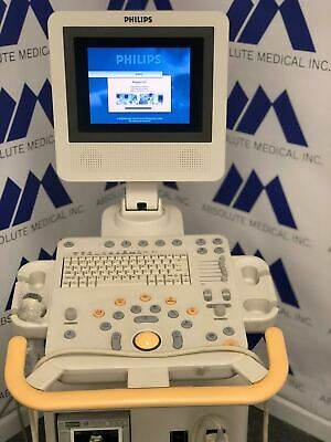 Philips Hd3 Ultrasound Machine With C4-2 Microconvex Ultrasound Probe Transducer
