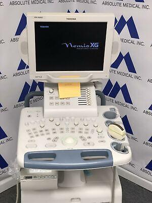 Toshiba Nemio Xg Ultrasound Machine With 6c3 Curved Array Probe Tested As-is