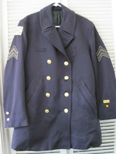 VINTAGE CHICAGO CITY POLICE SERGEANT WOOL UNIFORM PETTICOAT / TRENCH ORIG PATCHS