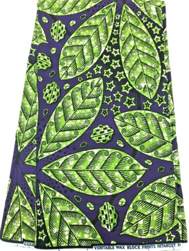 High Quality Leaves Design African Ankara Wax Print, 100% Cotton,Sell by 6 Yards