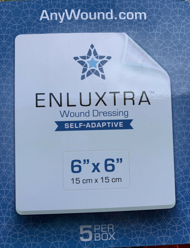 "Wound Dressing - Box of 5 Enluxtra 6""x6"" Self-Adaptive"