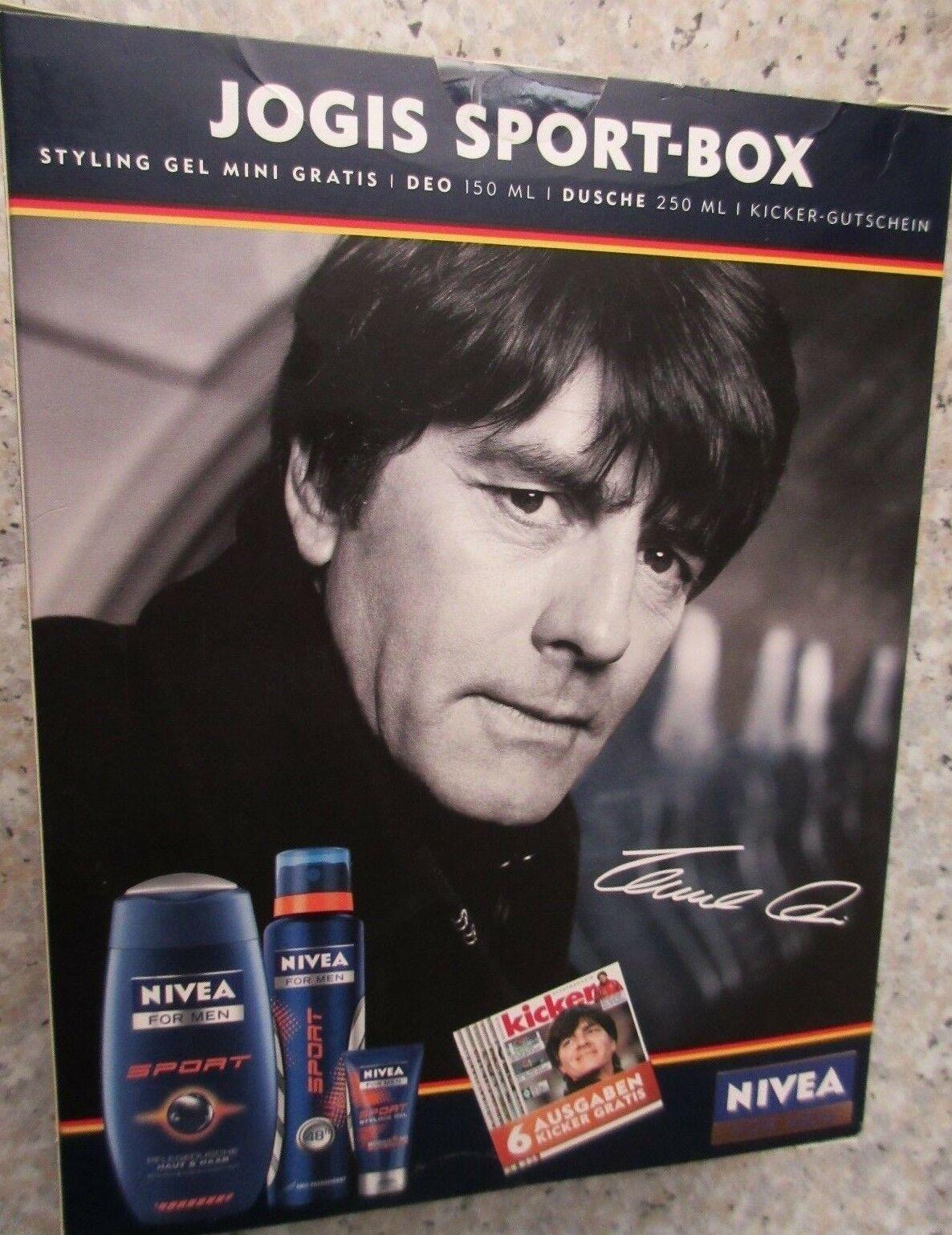 Nivea for Men Geschenkset Jogis Sport Box (Deospray, Pflegedusche, Styling Gel)